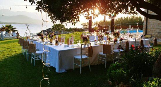 Small wedding table